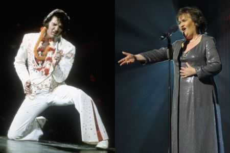 Susan Boyle Sings with Elvis  [Videos]