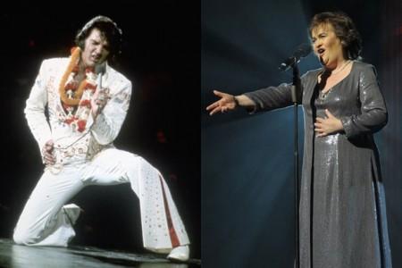 Susan Boyle Sings with Elvis  [Videos]