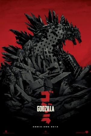 Godzilla 2014 remake movie poster