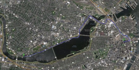 MIT to Boston journey in Google