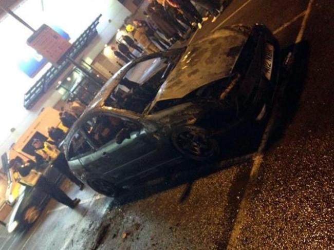Paul Walker Fan burns car to ground
