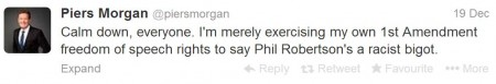 Piers Morgan on Twitter talking about Phil Robertson2