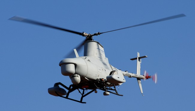 "Robots can be UAVs like the ""Fire Scout"""
