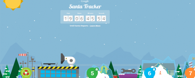 Santa Claus is now tracked by a Google Website too