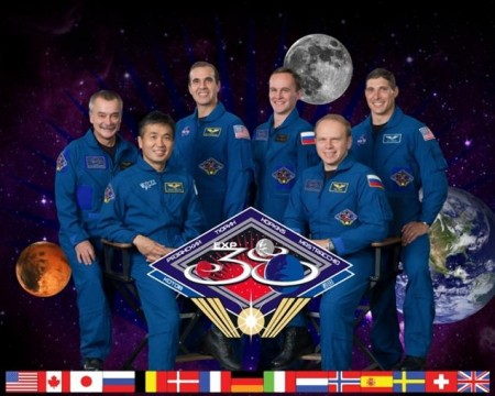 The Expedition 38 crew members