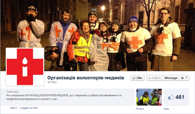 Organizaton of Volunteer Doctores Facebook page