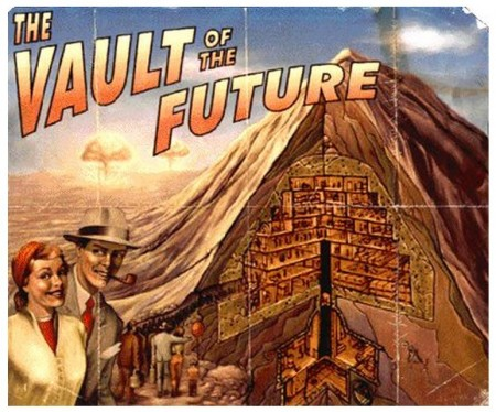 Vault of the future poster from Fallout 3
