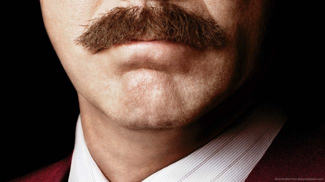 Will Ferrell and Ron Burgandy's mustache