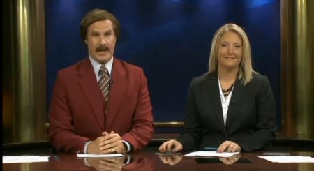Ron Burgundy and the local news