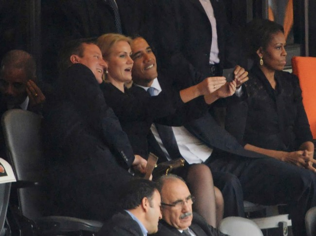 world, south africa, op-ed, obama, selfie, mandela memorial, michelle