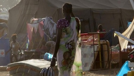 UN Assists Women and Children at Base