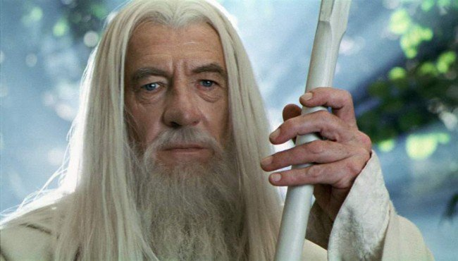 Sir Ian McKellen Glad to be Gandalf