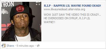 Lil Wayne Dead? Hoax Goes Viral on Facebook