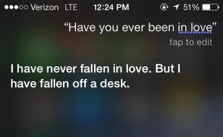 Siri is informational but also very funny