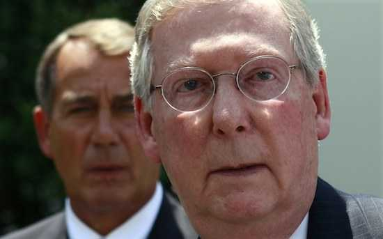 Republicans McConnell and Boehner