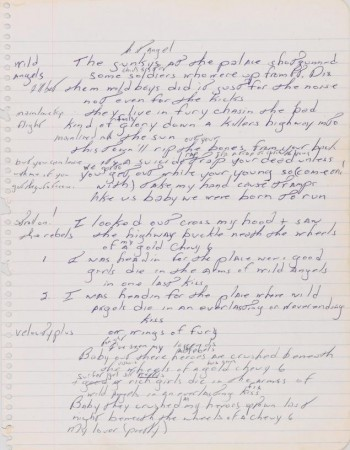 Bruce Springsteen Born to Run Manuscript Sells for $197,000