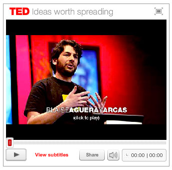 Aguera y Arcas' appearance on TED