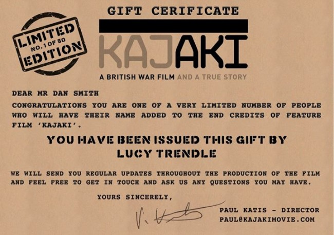 Kajaki: First Modern British War Film