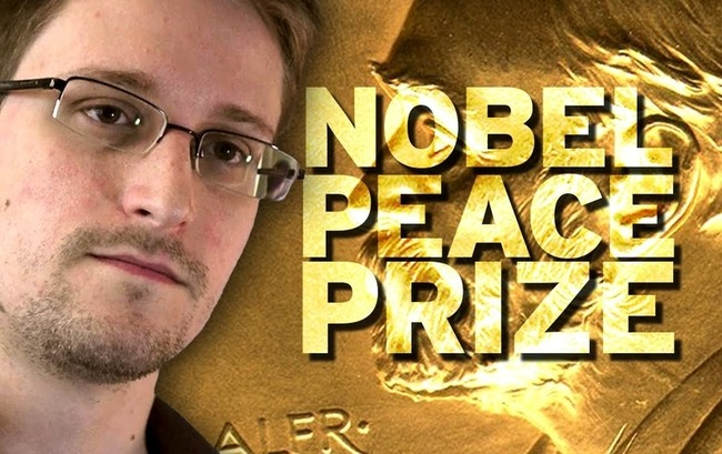 Nobel Peace Prize nomination for Edward Snowden