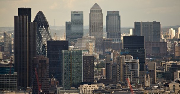 JP Morgan London headquarters is in the heart of London's financial district.
