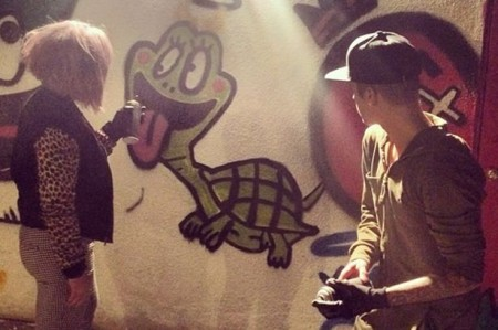 Osbourne sprays art with Bieber