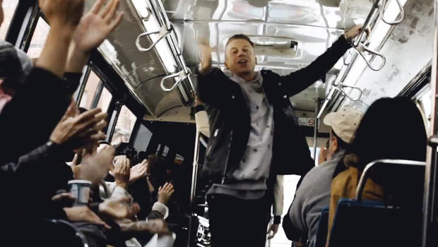 Macklemore & Ryan Lewis Surprise New York City Bus with Live Performance
