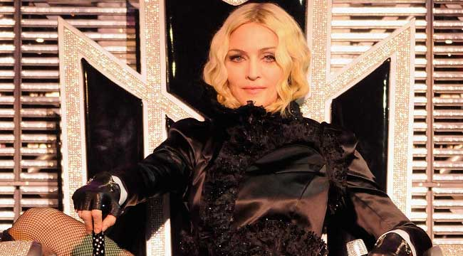 Madonna the Material Girl Teams up for Super Performance