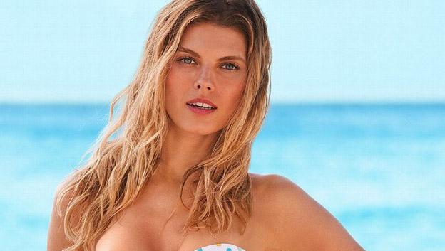 Victoria's Secret Model Avoids Full Monty Slip-Up