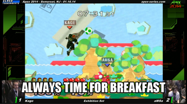 Nintendo Super Smash Bros Melee, aMSa breakfast