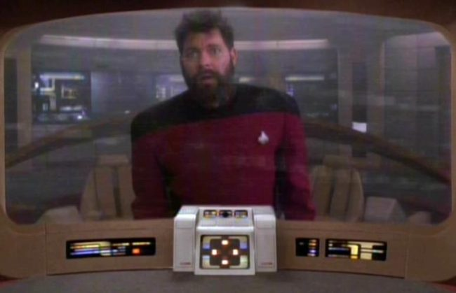 Airline passengers and Commander Riker trapped by polar vortex and time loop phenomenon