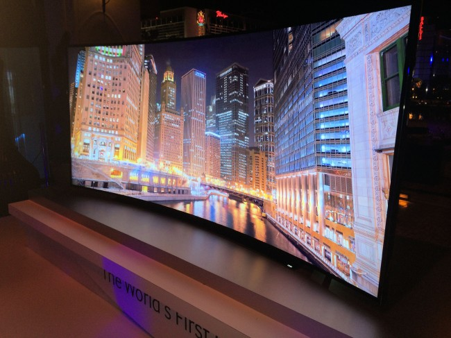 Samsung Group 105 Inch Curved LED LCD 4K TV Hits the CES Stage
