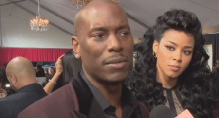 Tyrese Gibson on red carpet at Grammys