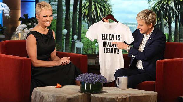 Pamela Anderson and Ellen Degeneres