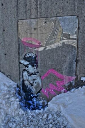 Banksy Paintings Vandalized in Park City Utah