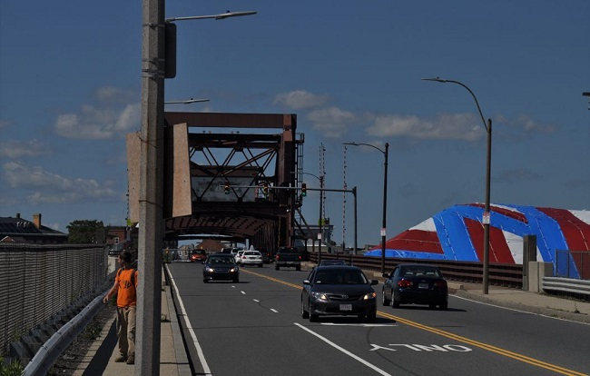 Woman killed as she attempted to cross a Boston drawbridge