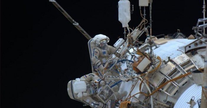Cosmonauts Take Second Shot at Installing Cameras on Space Station