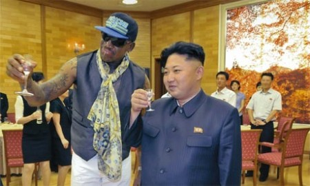 Dennis Rodman Toasts Kim Jong-Un