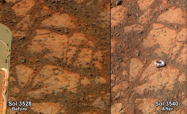 NASA Mars Rock