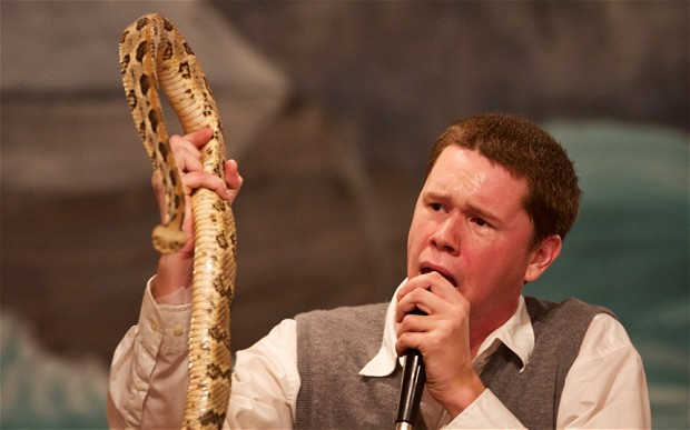 Snakes Alive and the Preacher Goes Free