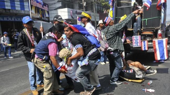 Thailand Protestors Stop Vote Casting