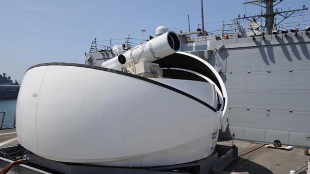 United States Navy Laser Weapon Ready for Action