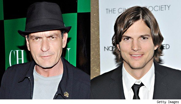 Charlie Sheen Renews Feud With Ashton Kutcher