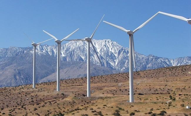 California desert wind farm