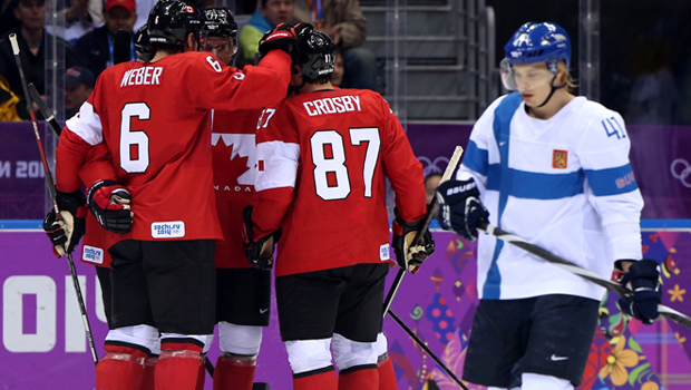 Sochi Hockey Team Canada Finland Sochi Winter Olympics