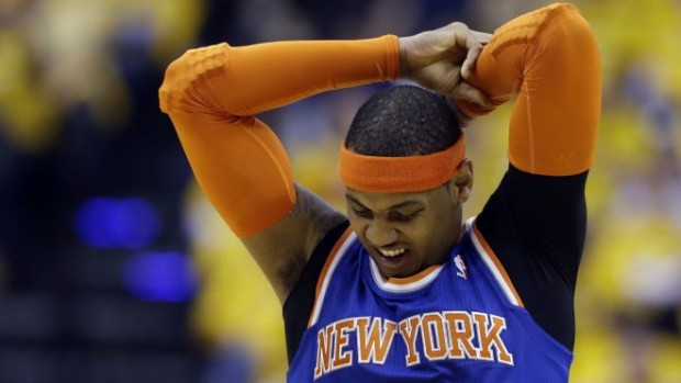 Carmelo Anthony Frustrated Again