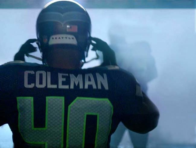 Seahawks FB Derrick Coleman