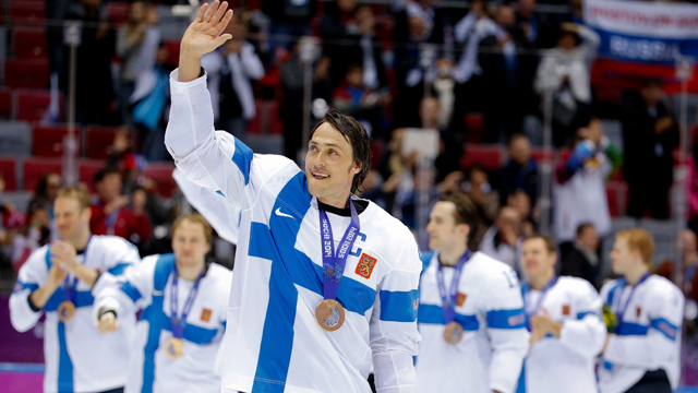 Teemu Selanne Sochi Ice Hockey