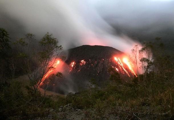 Indonesia, volcano, mount kelud