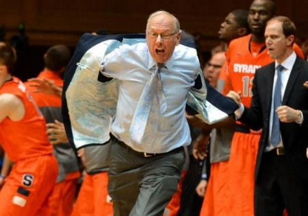 Jim Boeheim earned his first career ejection in the loss to Duke.