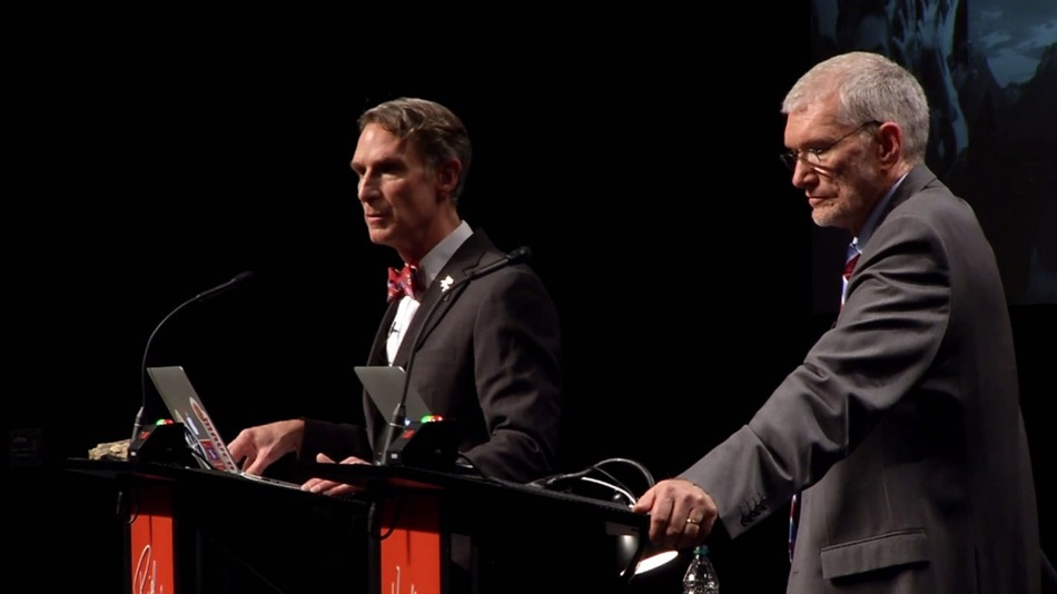 Bill Nye and Ken Ham discuss the origin of life.